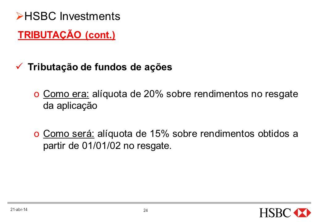 Tributação de fundos de ações