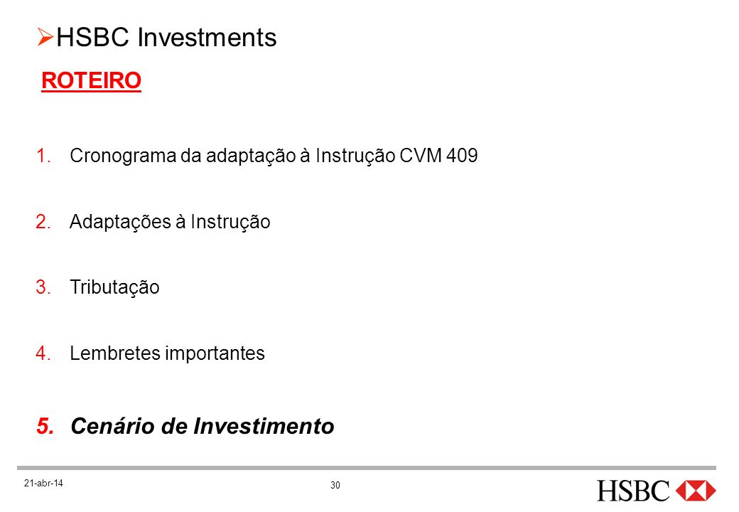 Cenário de Investimento
