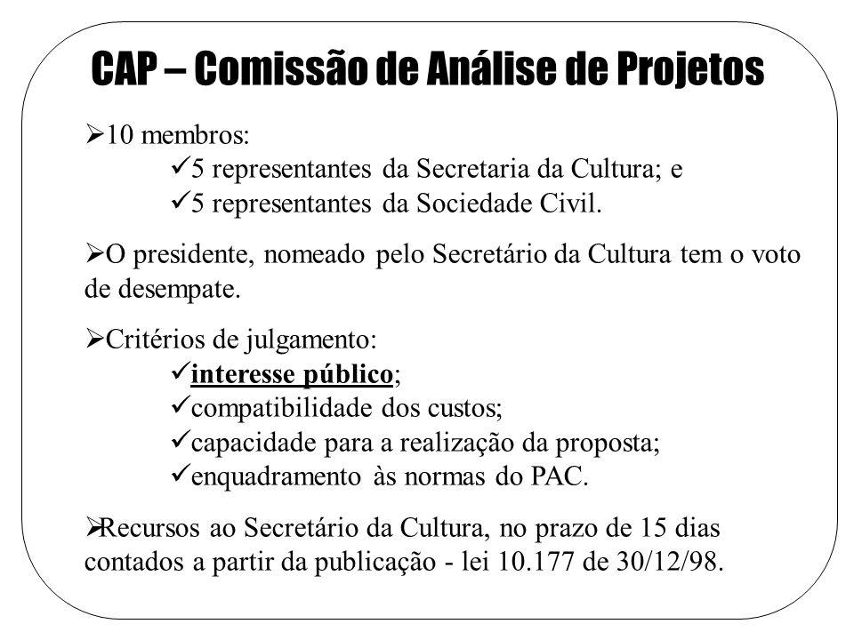 CAP – Comissão de Análise de Projetos