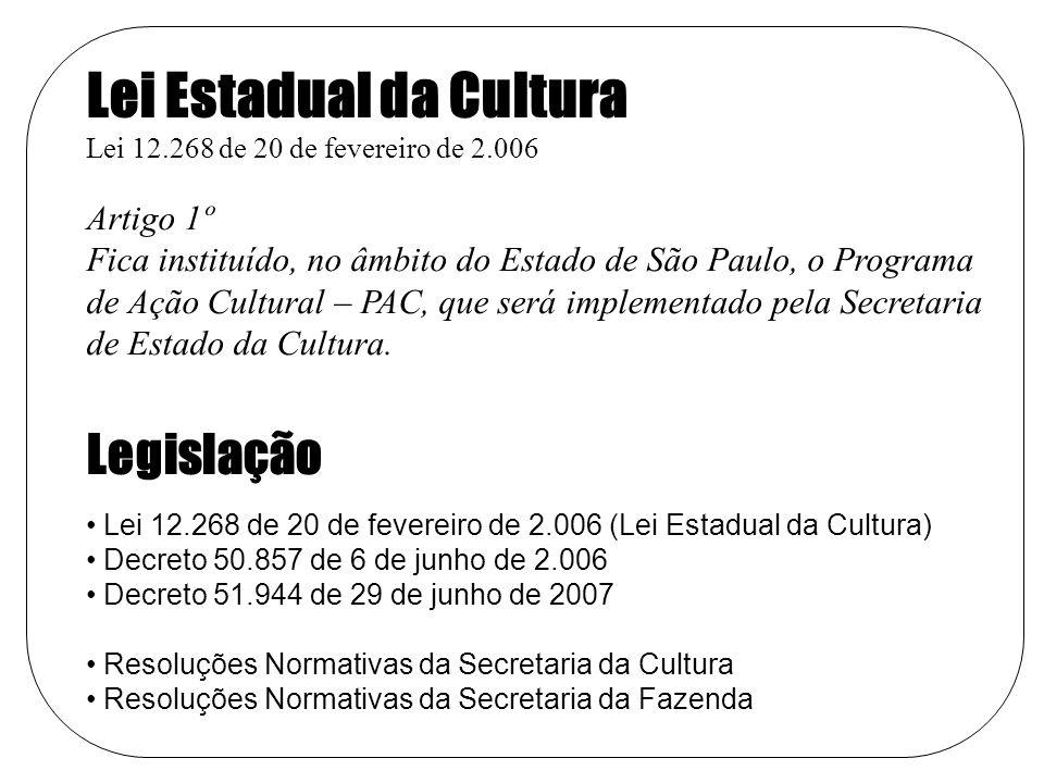 Lei Estadual da Cultura