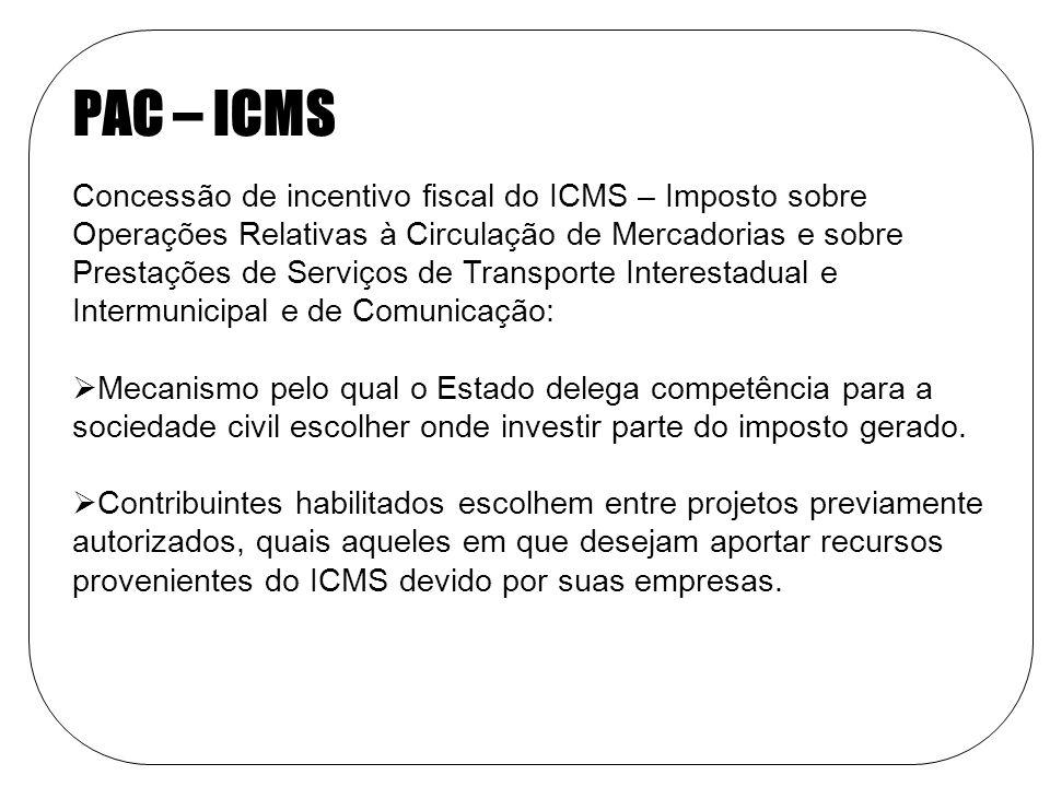 PAC – ICMS