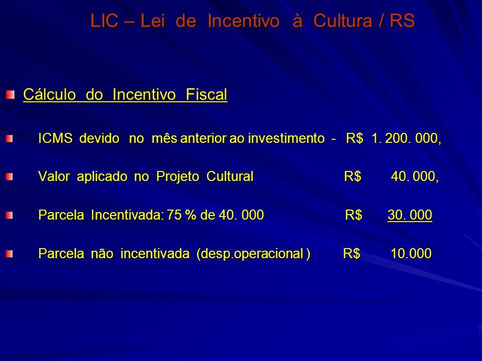 LIC – Lei de Incentivo à Cultura / RS