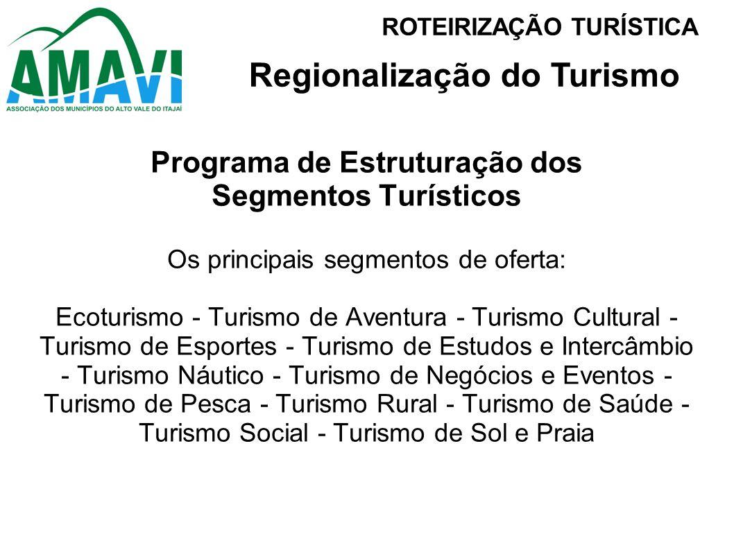 Regionalização do Turismo Programa de Estruturação dos
