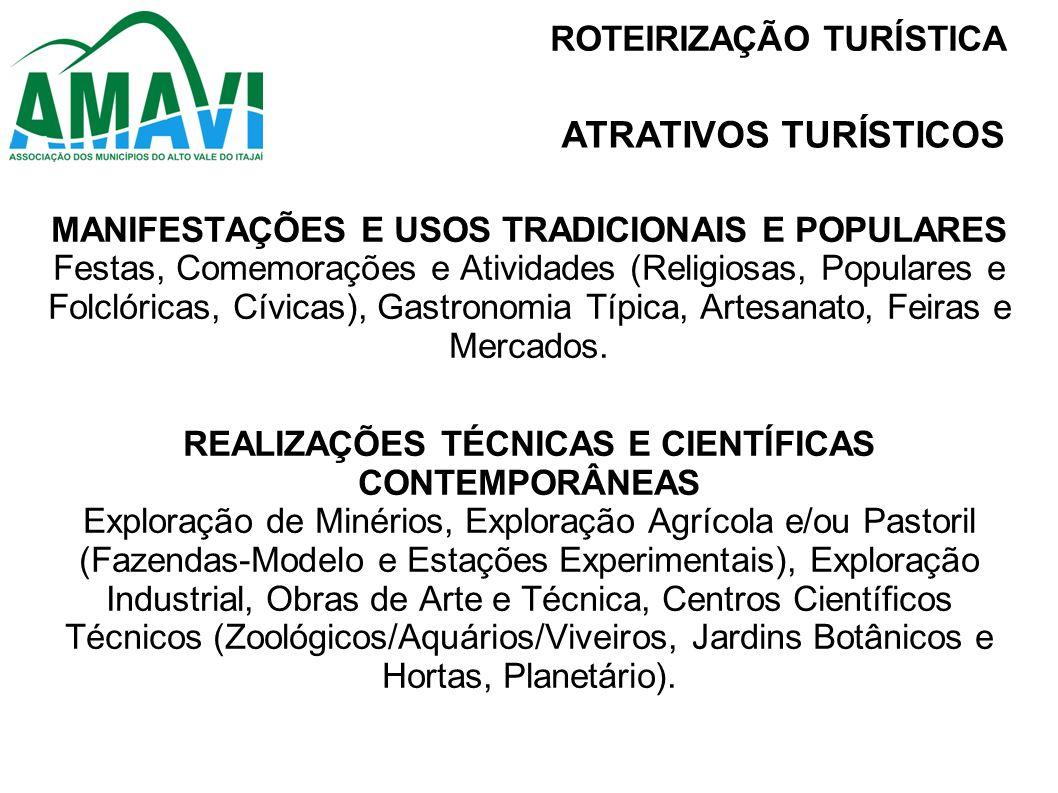 ATRATIVOS TURÍSTICOS ROTEIRIZAÇÃO TURÍSTICA