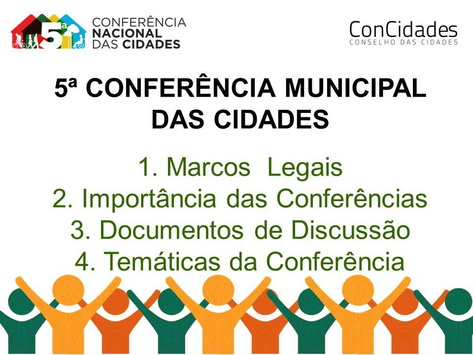 5ª CONFERÊNCIA MUNICIPAL DAS CIDADES
