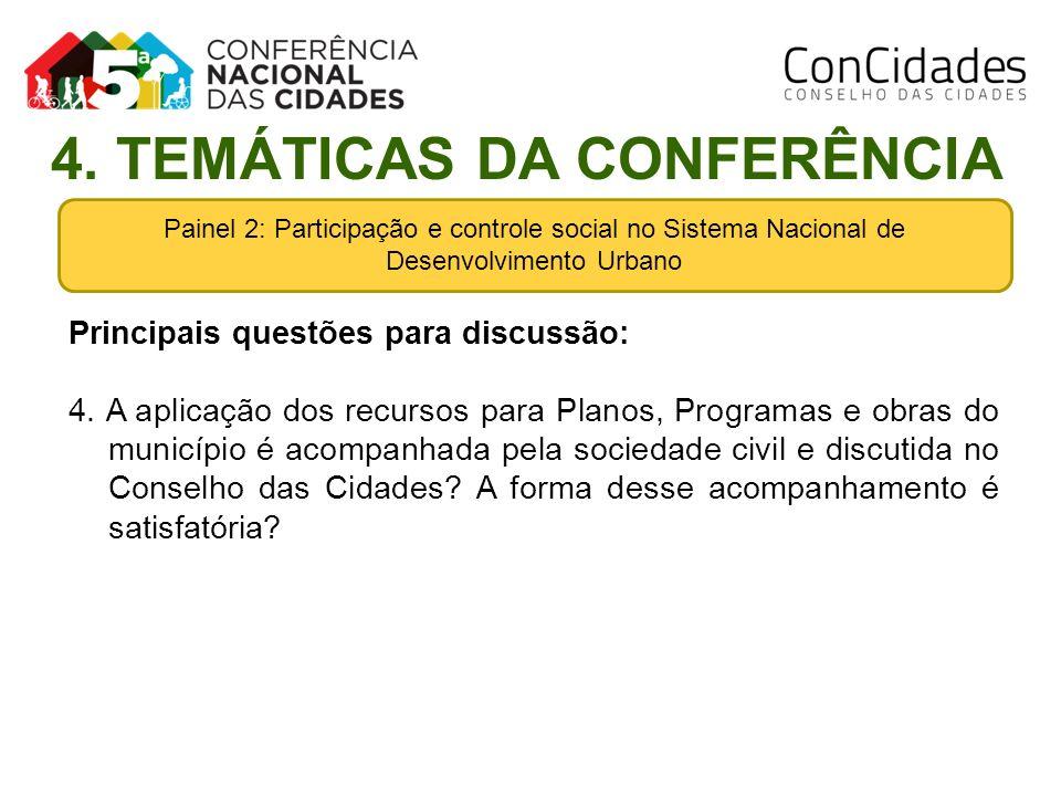 4. TEMÁTICAS DA CONFERÊNCIA