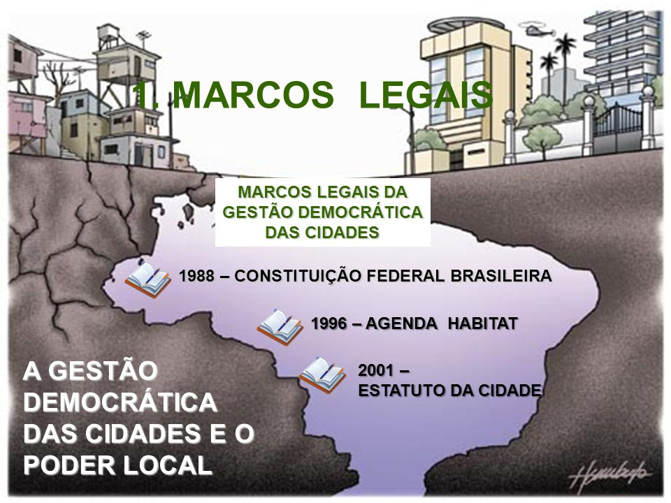 MARCOS LEGAIS DA GESTÃO DEMOCRÁTICA DAS CIDADES