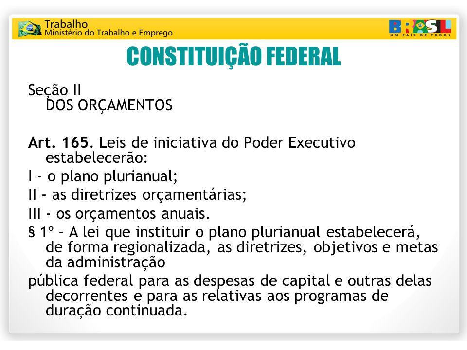 CONSTITUIÇÃO FEDERAL Seção II DOS ORÇAMENTOS