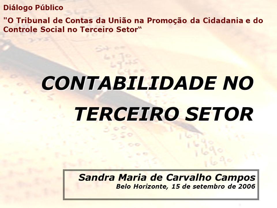 CONTABILIDADE NO TERCEIRO SETOR