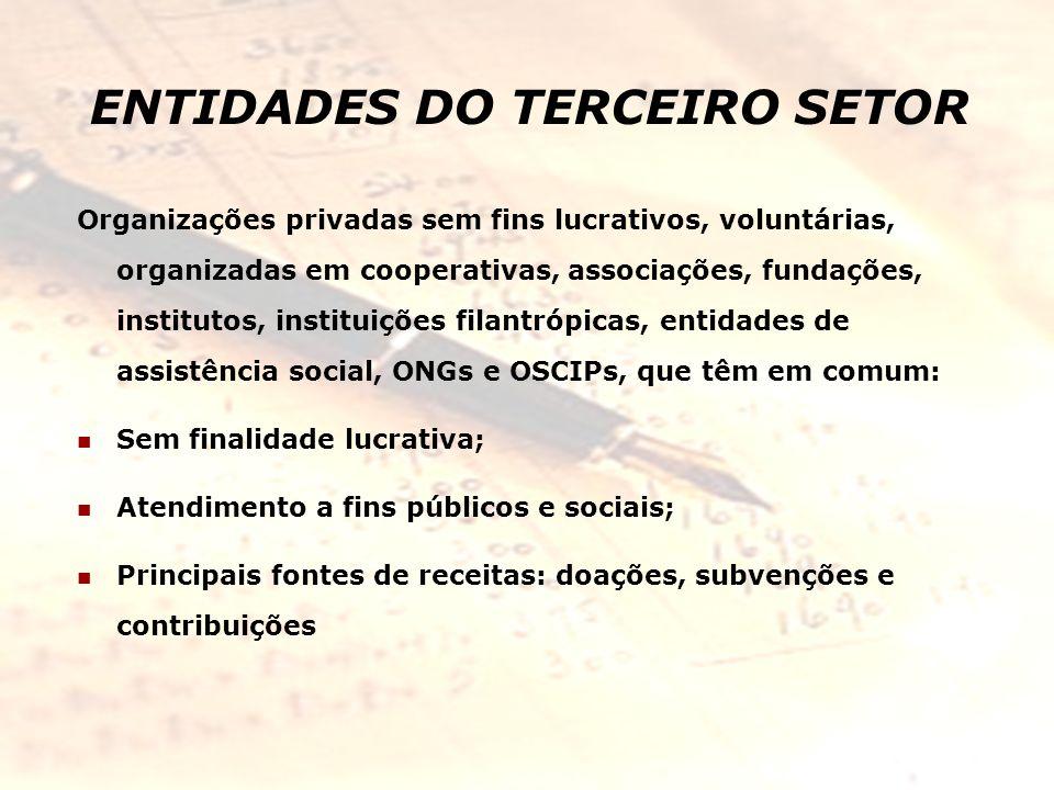 ENTIDADES DO TERCEIRO SETOR