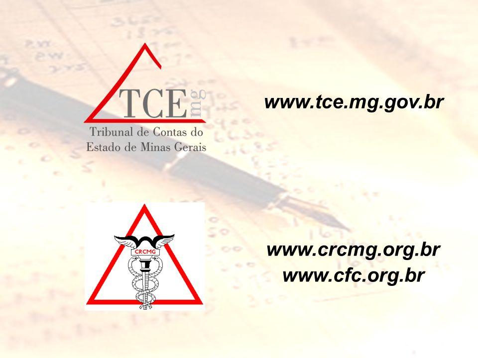 www.tce.mg.gov.br www.crcmg.org.br www.cfc.org.br