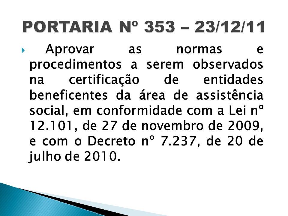 PORTARIA Nº 353 – 23/12/11