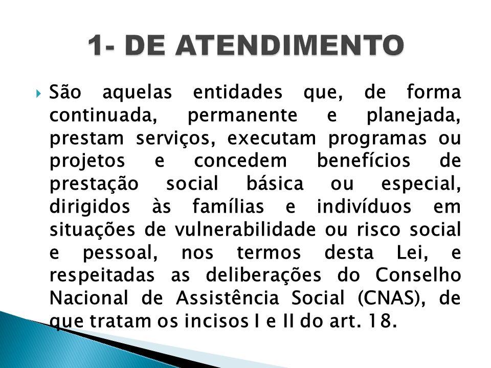 1- DE ATENDIMENTO