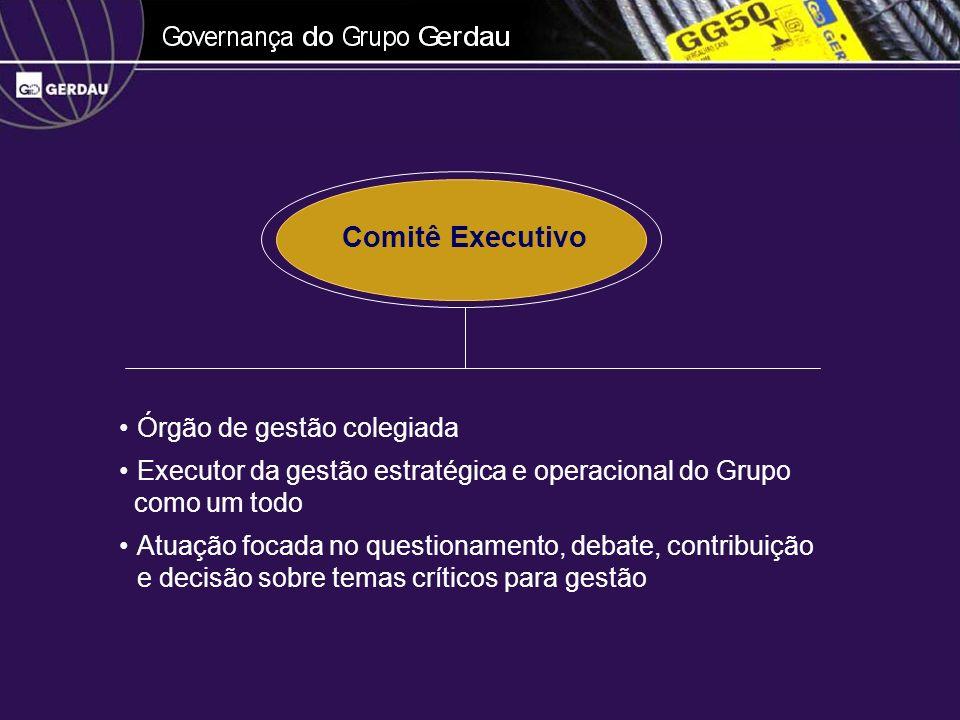 Comitê Executivo Órgão de gestão colegiada