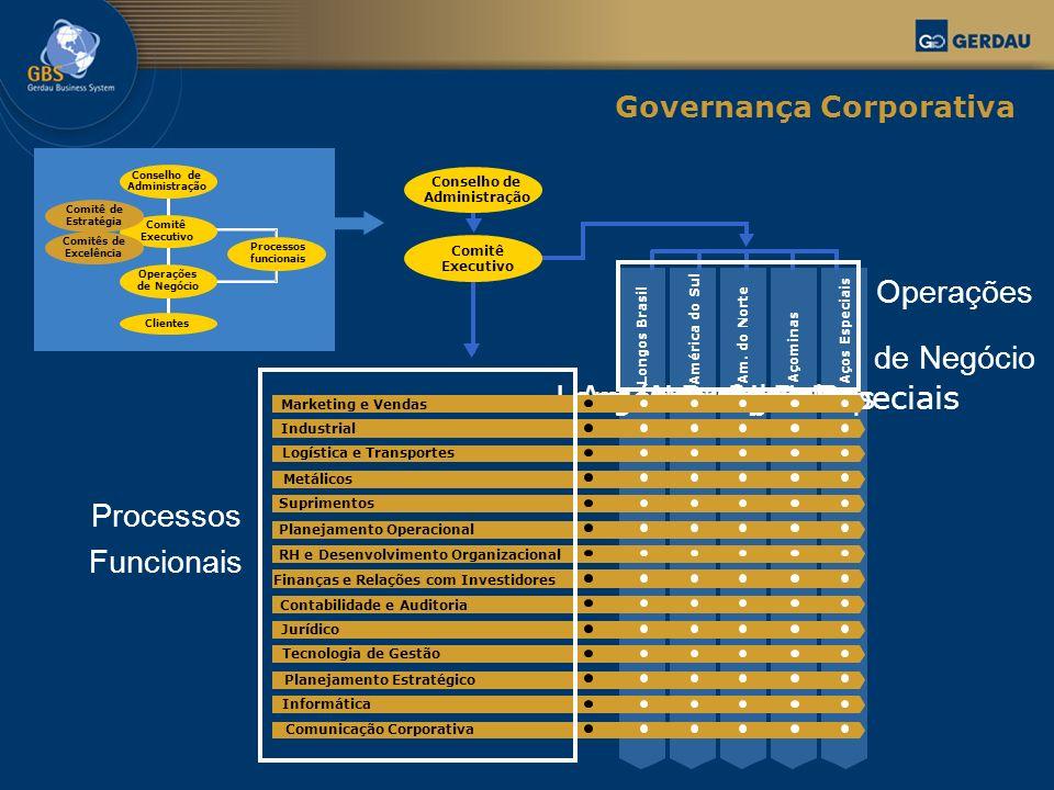 Operações de Negócio Processos Funcionais Governança Corporativa
