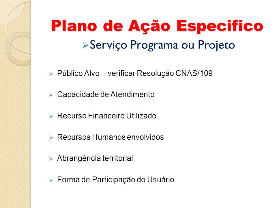 Plano de Ação Especifico