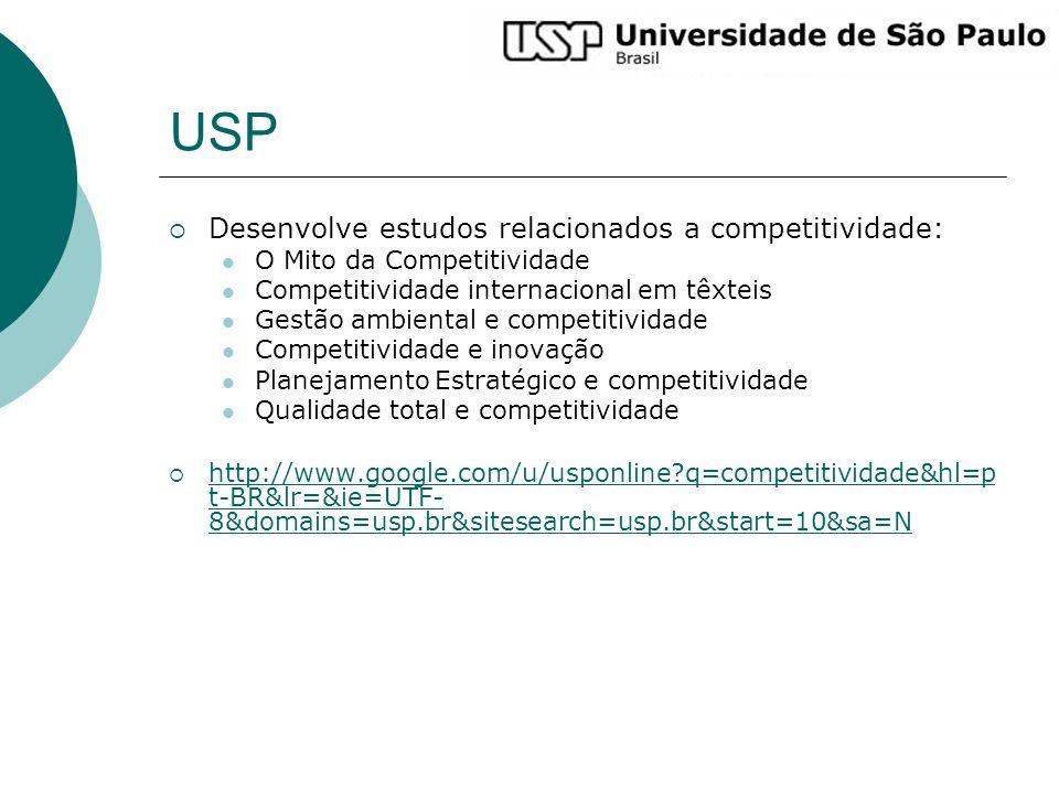 USP Desenvolve estudos relacionados a competitividade: