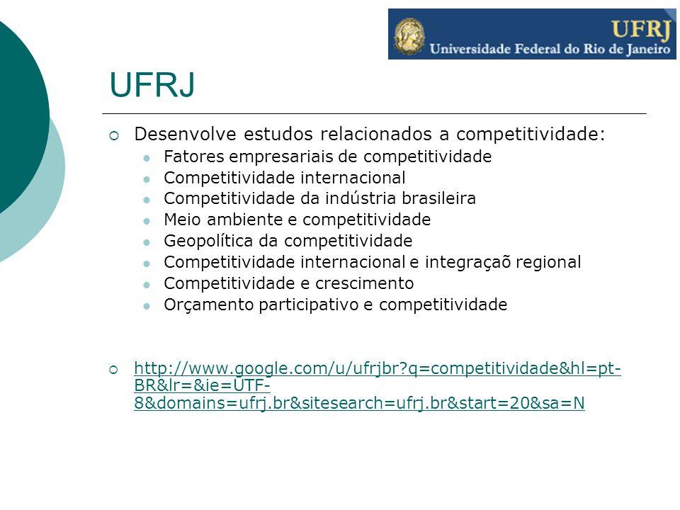 UFRJ Desenvolve estudos relacionados a competitividade: