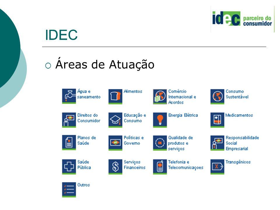 IDEC IDEC Áreas de Atuação