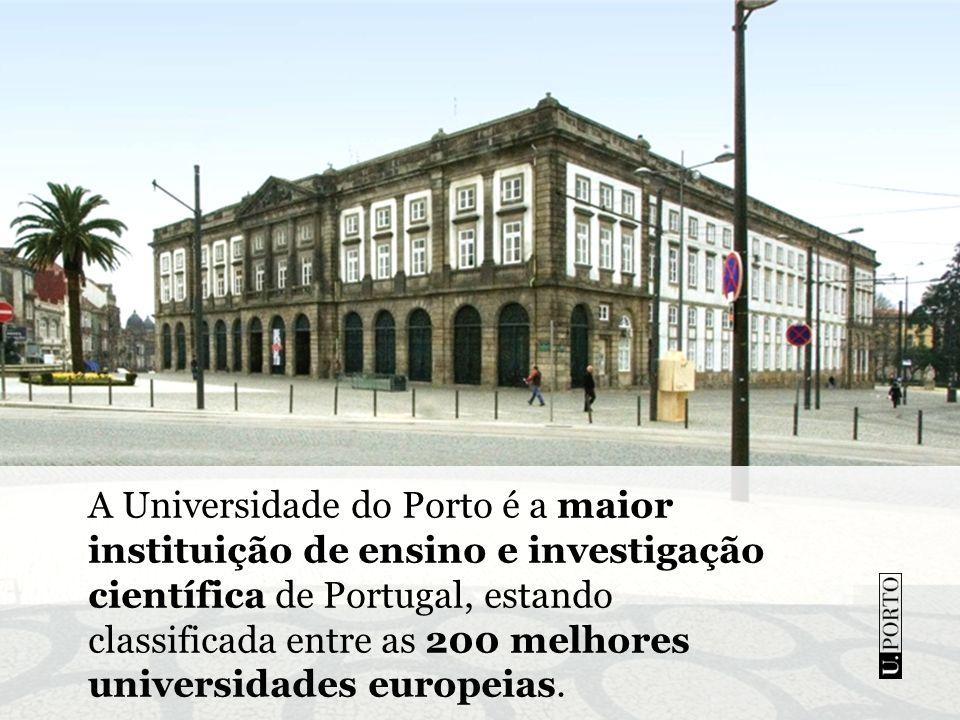A Universidade do Porto é a maior instituição de ensino e investigação científica de Portugal, estando classificada entre as 200 melhores universidades europeias.