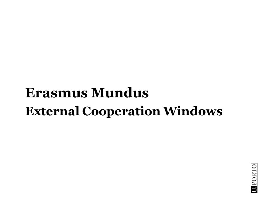Erasmus Mundus External Cooperation Windows