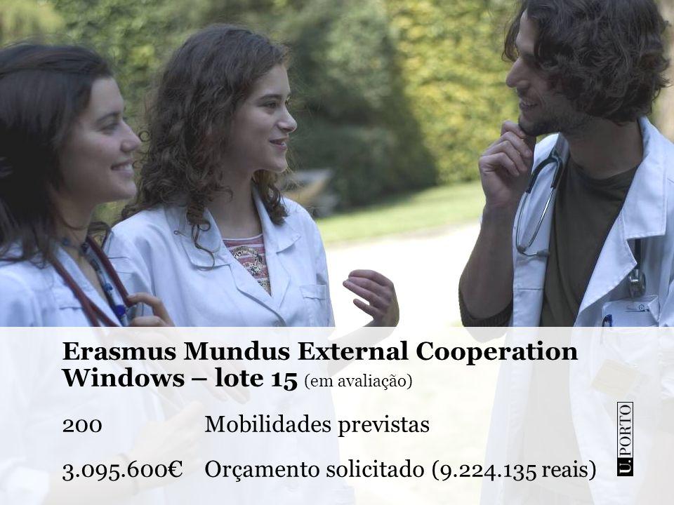 Erasmus Mundus External Cooperation Windows – lote 15 (em avaliação)