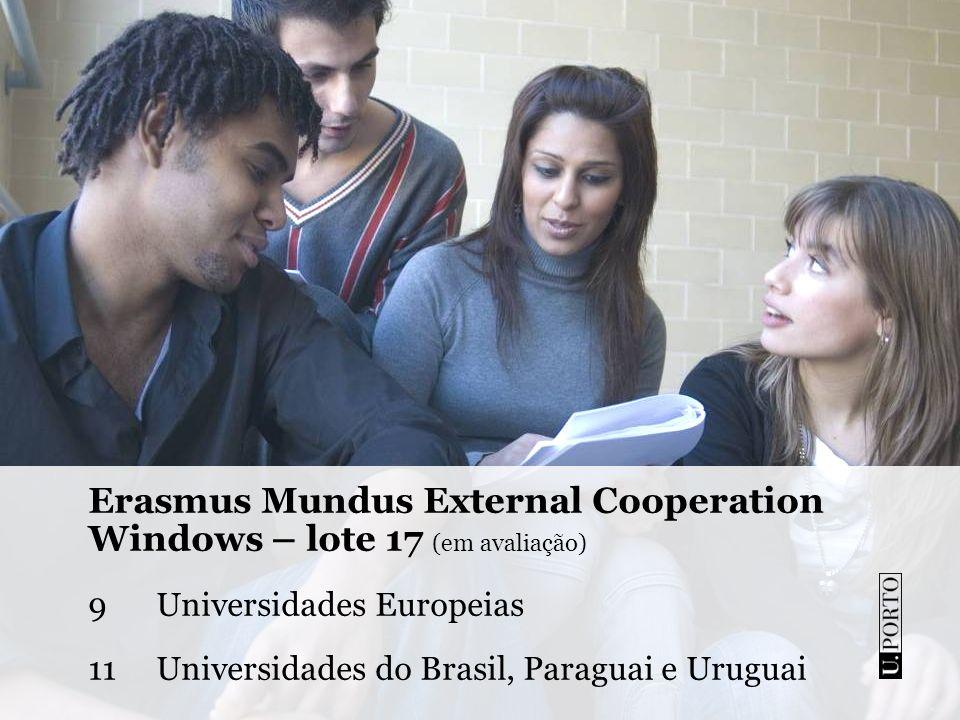 Erasmus Mundus External Cooperation Windows – lote 17 (em avaliação)