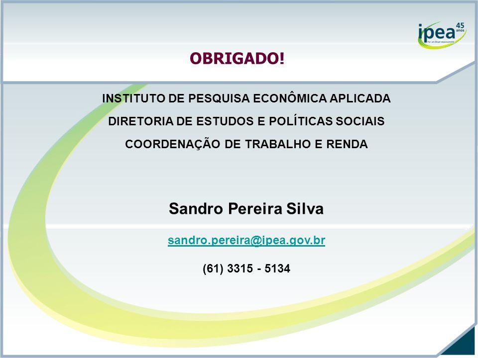 OBRIGADO! Sandro Pereira Silva
