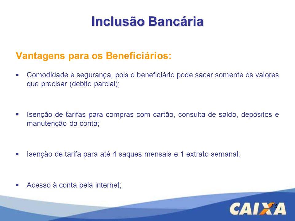 Vantagens para os Beneficiários: