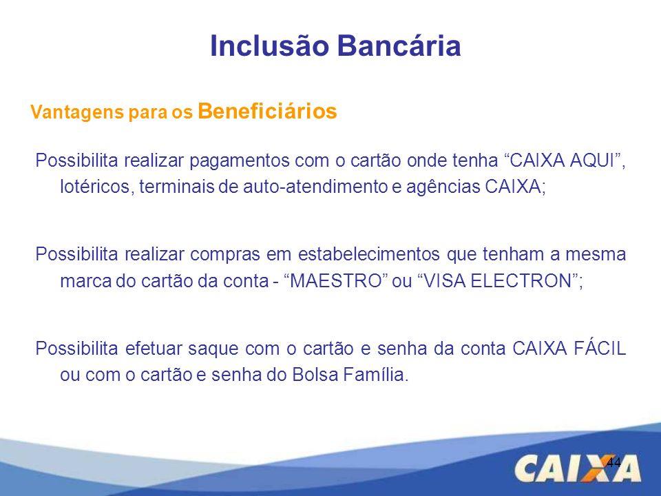 Inclusão Bancária Vantagens para os Beneficiários