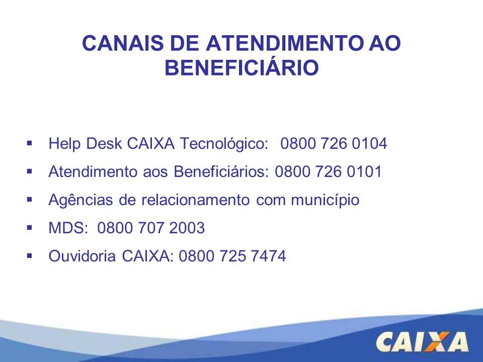 CANAIS DE ATENDIMENTO AO BENEFICIÁRIO