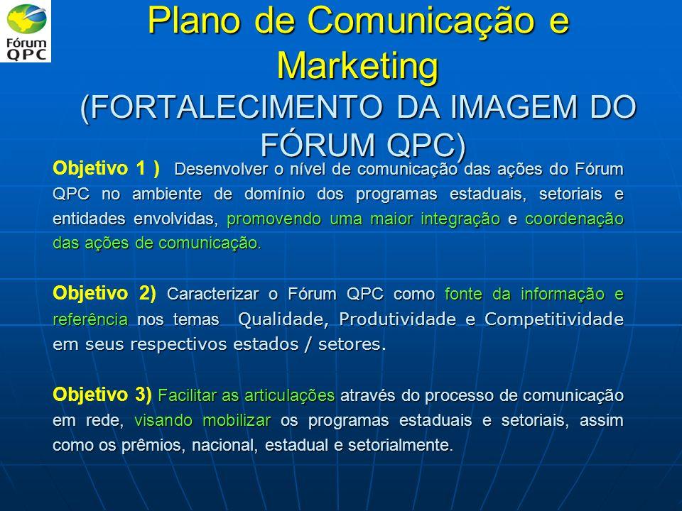 Plano de Comunicação e Marketing (FORTALECIMENTO DA IMAGEM DO FÓRUM QPC)