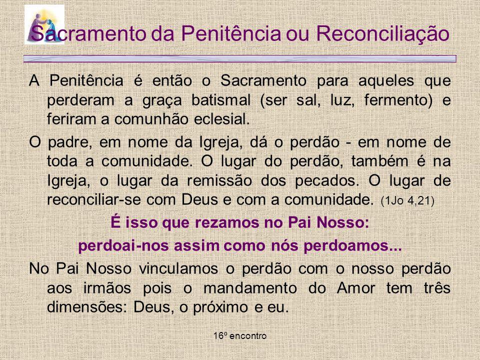 Sacramento da Penitência ou Reconciliação