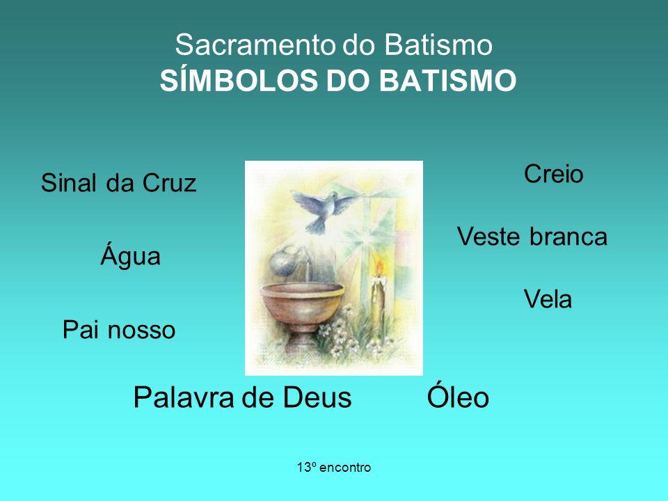 Sacramento do Batismo SÍMBOLOS DO BATISMO