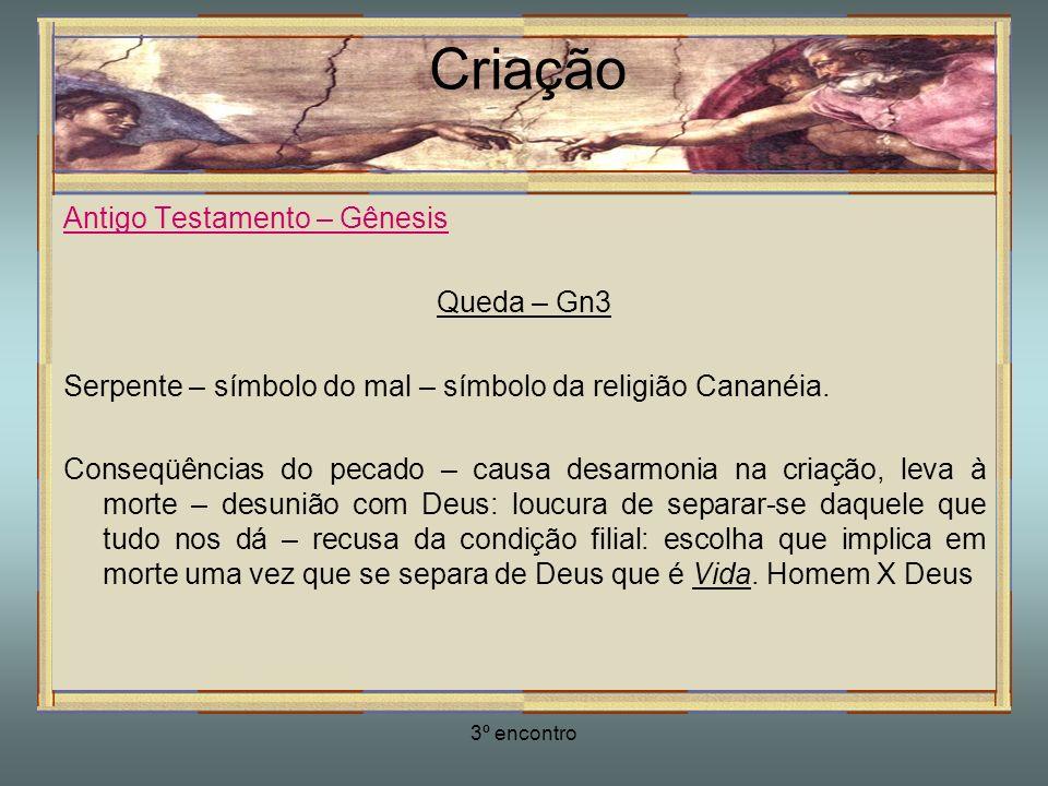 Criação Antigo Testamento – Gênesis Queda – Gn3