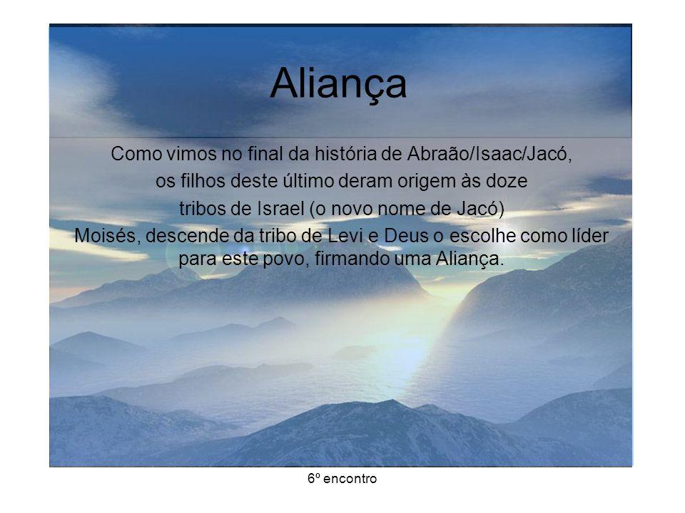 Aliança Como vimos no final da história de Abraão/Isaac/Jacó,