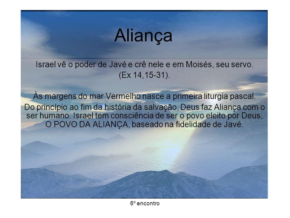Aliança Israel vê o poder de Javé e crê nele e em Moisés, seu servo.