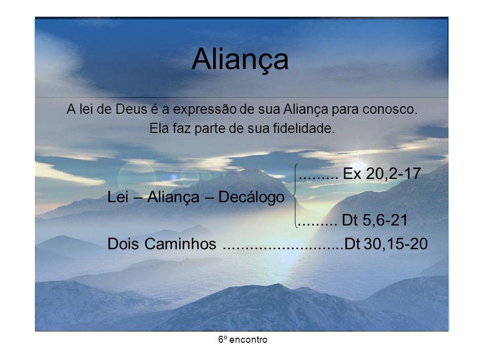 Aliança ......... Ex 20,2-17 Lei – Aliança – Decálogo