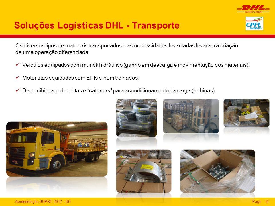 Soluções Logísticas DHL - Transporte