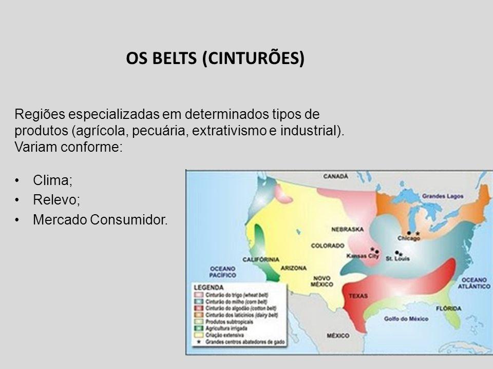 Clima; Relevo; Mercado Consumidor.