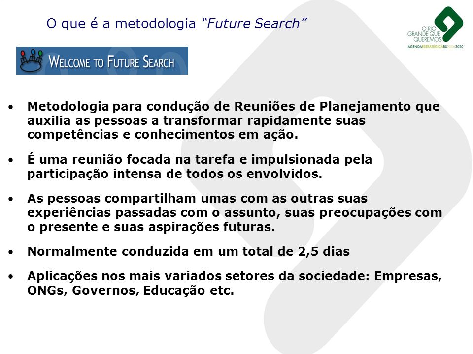 O que é a metodologia Future Search