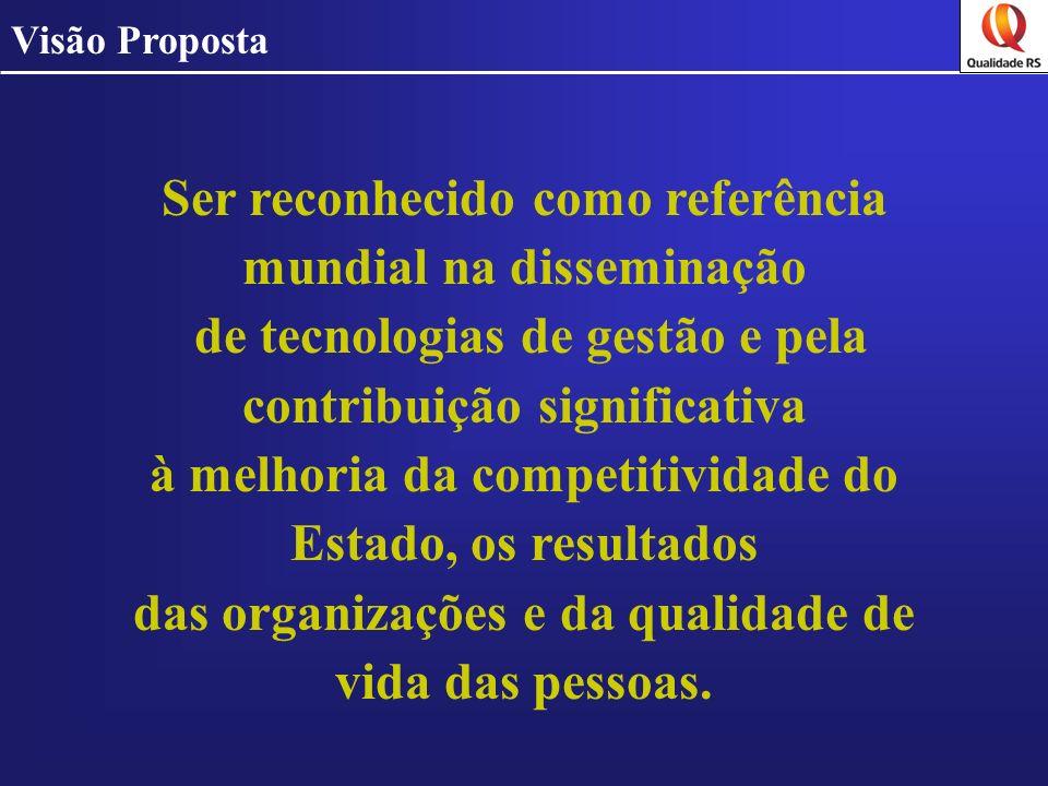 Ser reconhecido como referência mundial na disseminação