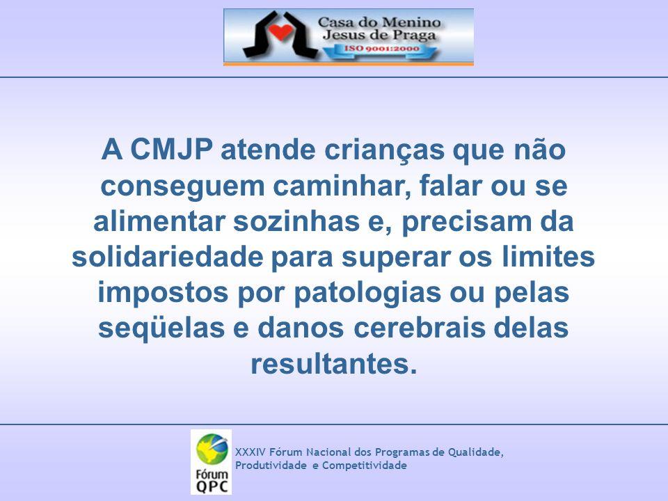 A CMJP atende crianças que não conseguem caminhar, falar ou se alimentar sozinhas e, precisam da solidariedade para superar os limites impostos por patologias ou pelas seqüelas e danos cerebrais delas resultantes.