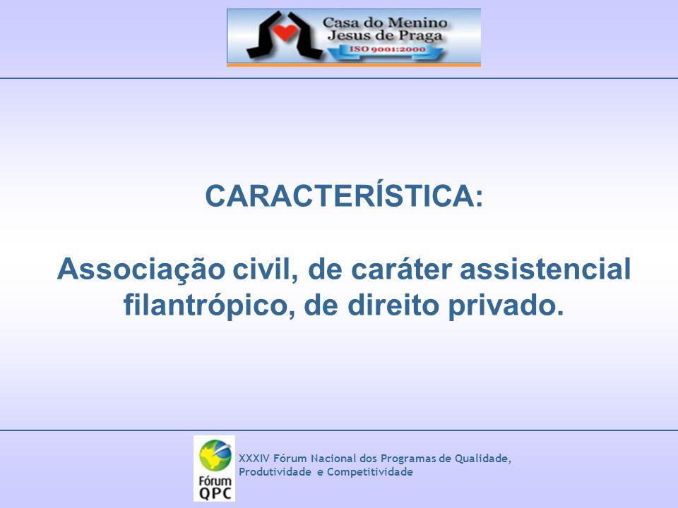 Associação civil, de caráter assistencial
