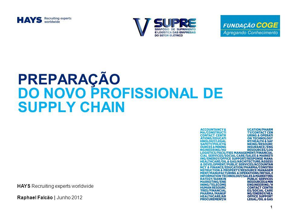PREPARAÇÃO DO NOVO PROFISSIONAL DE SUPPLY CHAIN