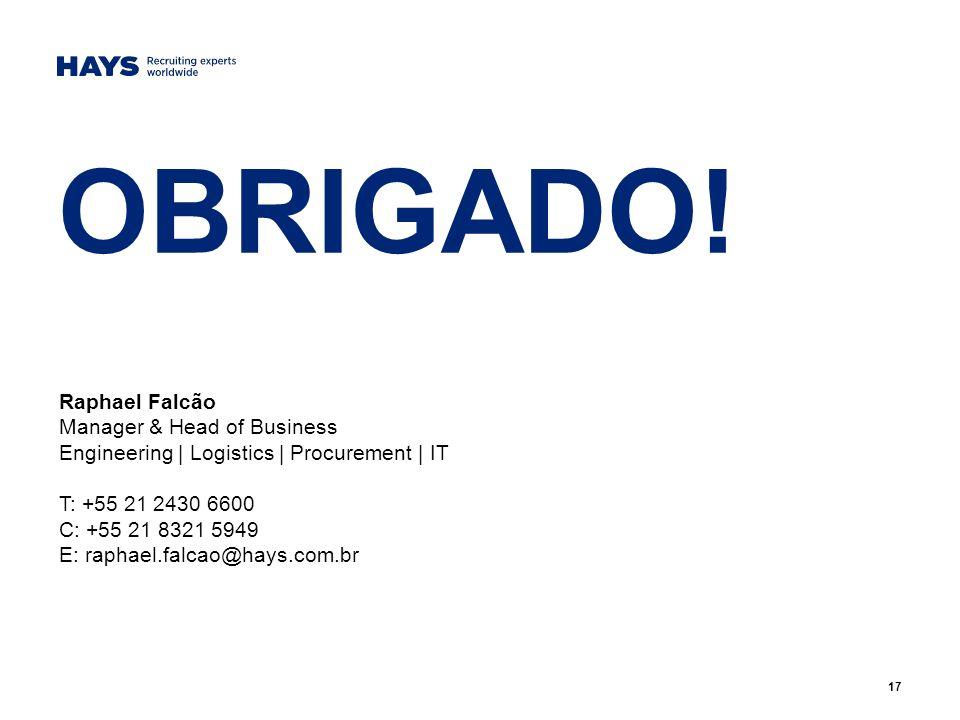 OBRIGADO! Raphael Falcão Manager & Head of Business