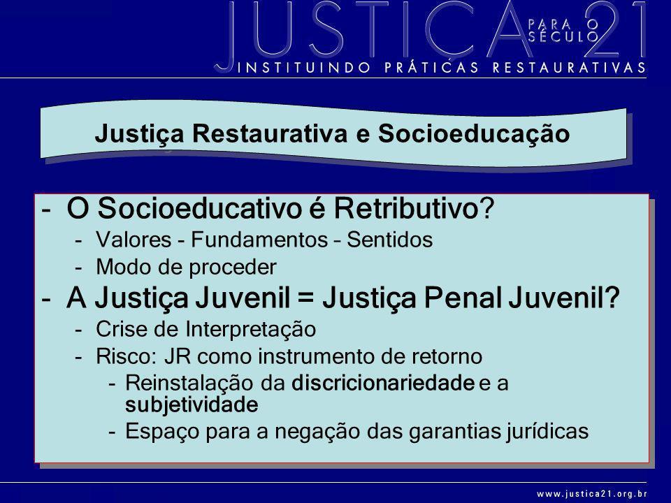 Justiça Restaurativa e Socioeducação