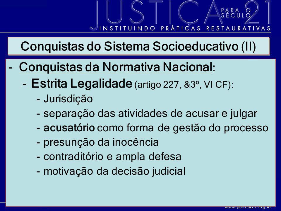 Conquistas do Sistema Socioeducativo (II)