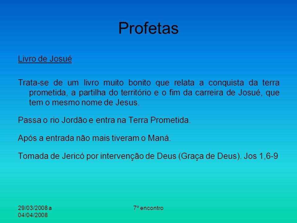 Profetas Livro de Josué