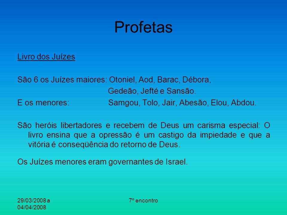 Profetas Livro dos Juízes